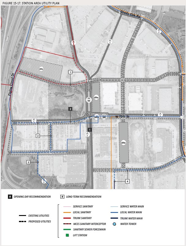 Station area utility plan